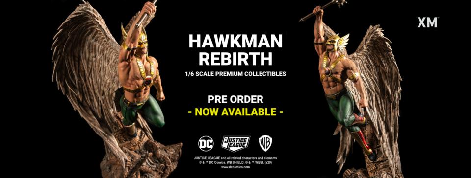 Premium Collectibles : Hawkman 1/6 Bizarrobanneropenwrkoc