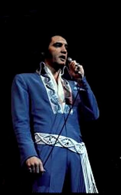 03 Blue Brocade Suit Rex Martin S Elvis Moments In Time