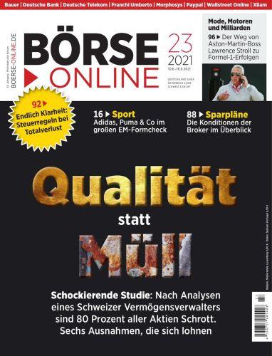Cover: Börse Online Magazin No 23 vom 10  Juni 2021