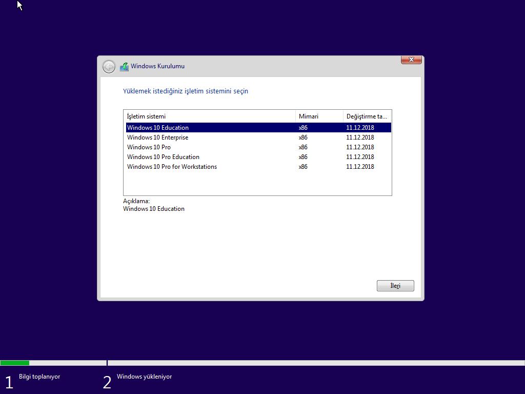 Windows 10 Education (Redstone 5) - (32/64 Bit) Türkçe MSDN Final