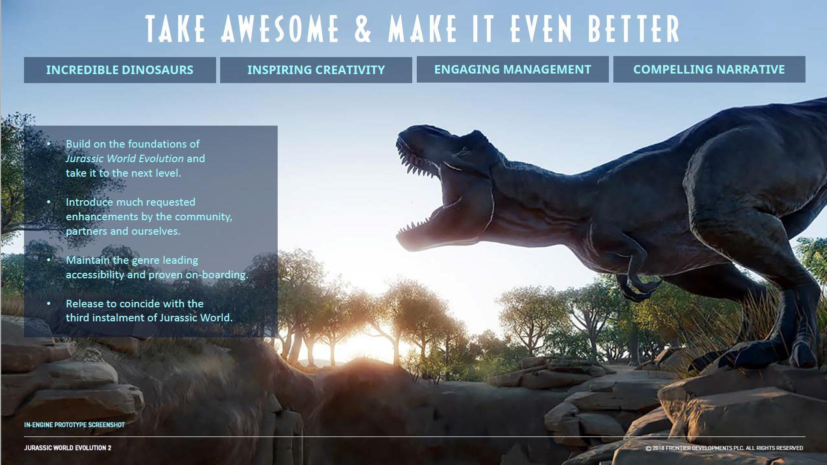 Rumor] Jurassic World Evolution 2 Internal Slides Leak