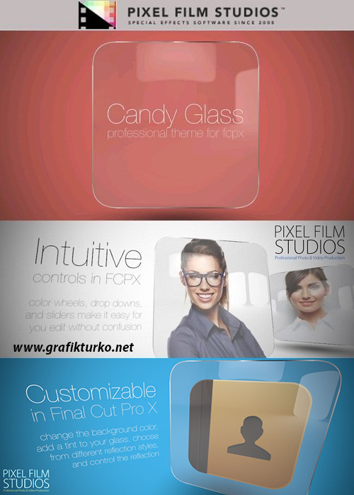 Candy Glass - Professional Theme for Final Cut Pro X-Mac OS X