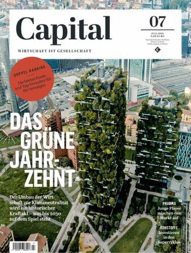 Cover: Capital Wirtschaftsmagazin No 07 Juli 2021