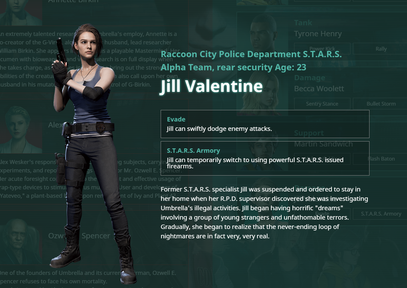 Resident Evil Resistance Patch Adds Jill Valentine New Costumes