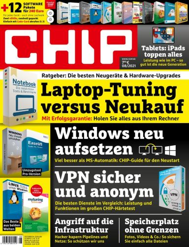 Cover: Chip Magazin August No 08 2021