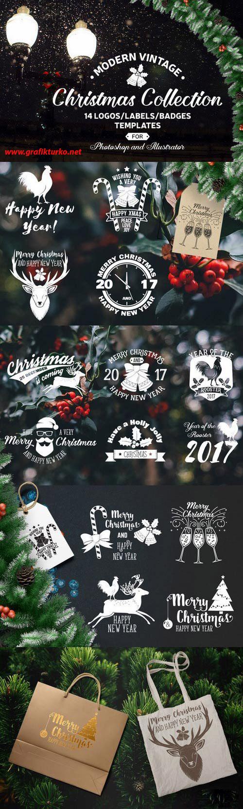 Christmas Collection Design Logo Vector