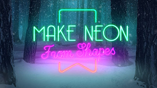 Christmas Forest Opener - Neon - Project for After Effects (Videohive)