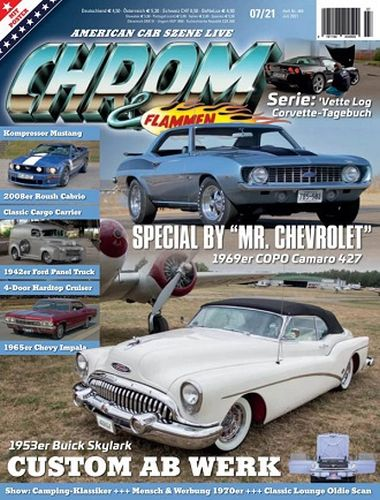 Cover: Chrom und Flammen Automagazin Nr 07 Juli 2021