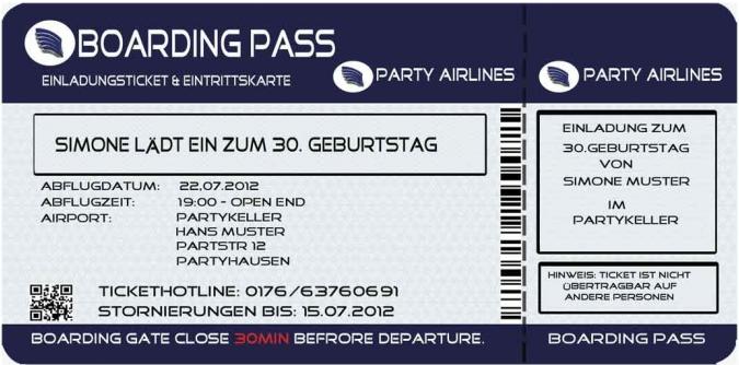 Detalles De Tarjetas De Invitación Como Boleto De Avión Para Mi Cumpleaños Invitación Fiesta Boarding Pass Ver Título Original