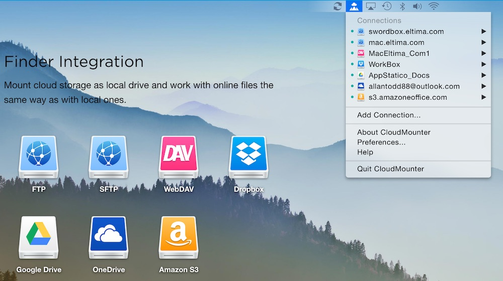 CloudMounter 2.1 (Mac OS X)