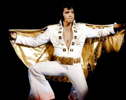 10 - White Comet Jumpsuit - Rex Martin's ELVIS Moments in Time
