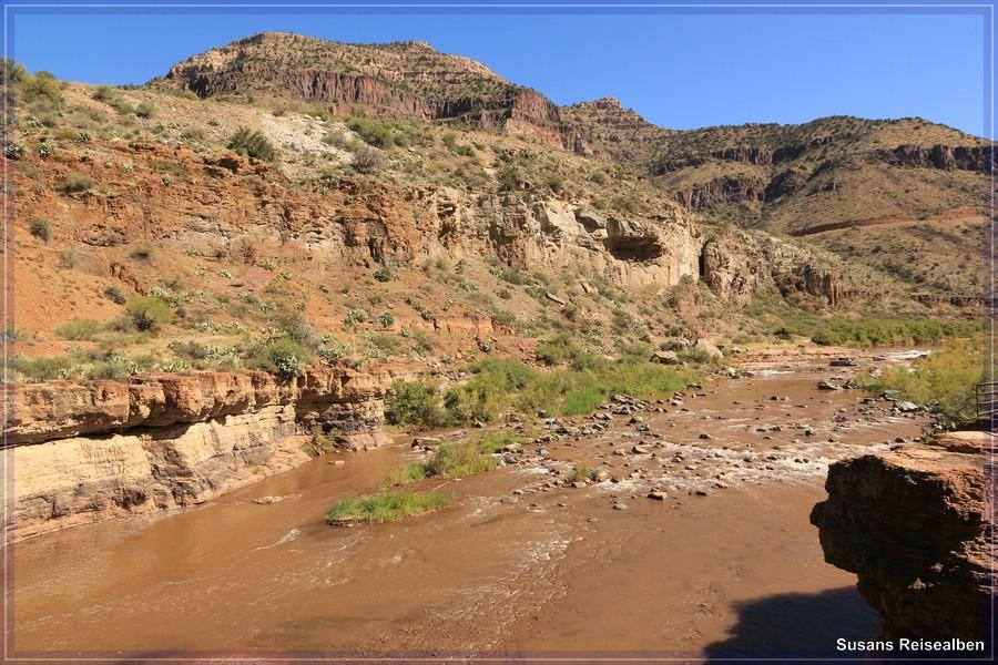 Salt River Canyon am Ufer