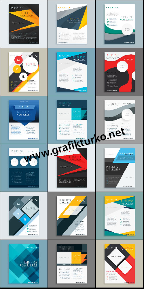 Company Brochure Vector Template