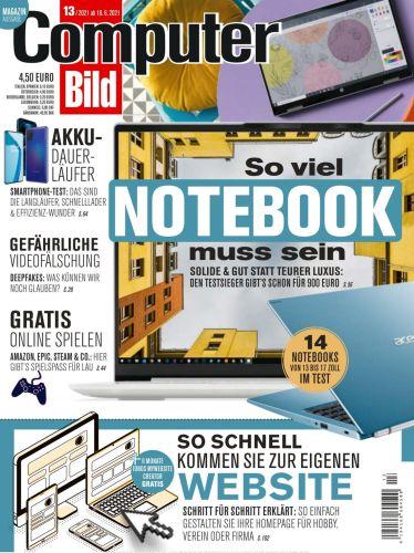 Cover: Computer Bild Magazin No 13 vom 18  Juni 2021