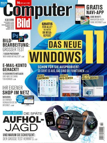 Cover: Computer Bild Magazin No 14 vom 02  Juli 2021