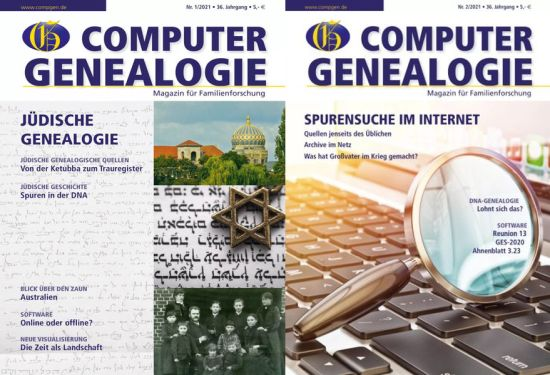 Cover: Computergenealogie Magazine No 01 + 02 2021