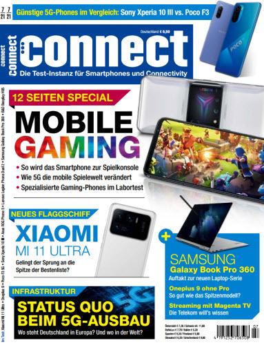 Cover: Connect Magazin für Telekommunikation No 07 2021