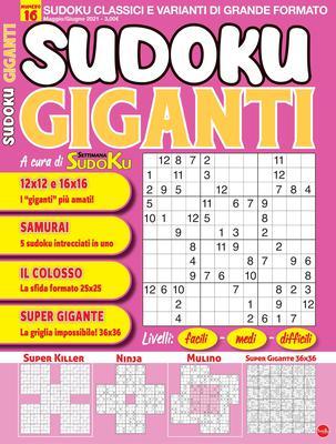 Sudoku Giganti – Maggio-Giugno 2021