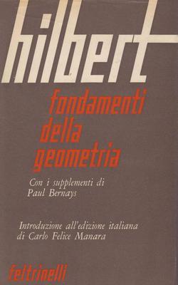 David Hilbert - Fondamenti della geometria. Con i supplementi di Paul Bernays (1970)