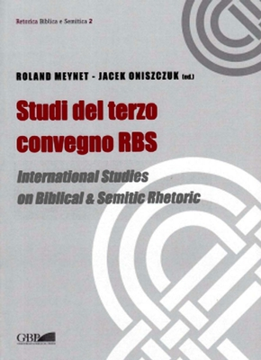 Roland Meynet, Jacek Oniszczuk - Studi del terzo convegno RBS (2013)