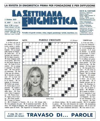 La Settimana Enigmistica N.4567 - 3 Ottobre 2019