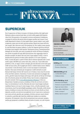 Altroconsumo Finanza N.1336 - 15 Ottobre 2019