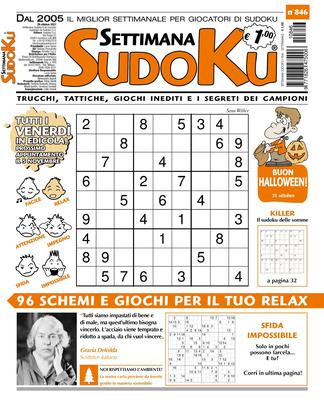 Settimana Sudoku N.846 - 27 Ottobre 2021