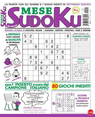 Settimana Sudoku Mese N.20 - Ottobre 2020