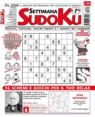 Settimana Sudoku N.828 – 25 Giugno 2021