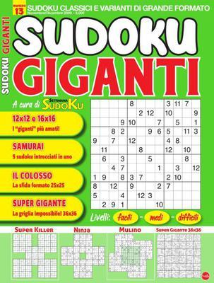Sudoku Giganti N.13 - Novembre-Dicembre 2020