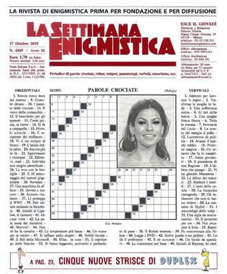 La Settimana Enigmistica N.4569 - 17 Ottobre 2019