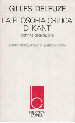 Gilles Deleuze - La filosofia critica di Kant (1979)
