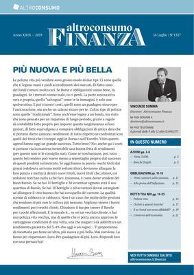 Altroconsumo Finanza N.1327 - 16 Luglio 2019