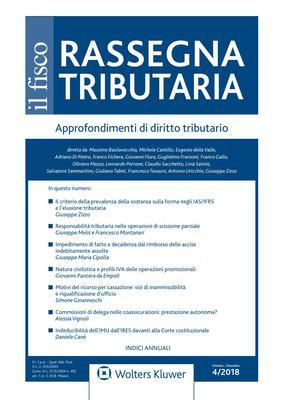 Rassegna Tributaria - Ottobre-Dicembre 2018