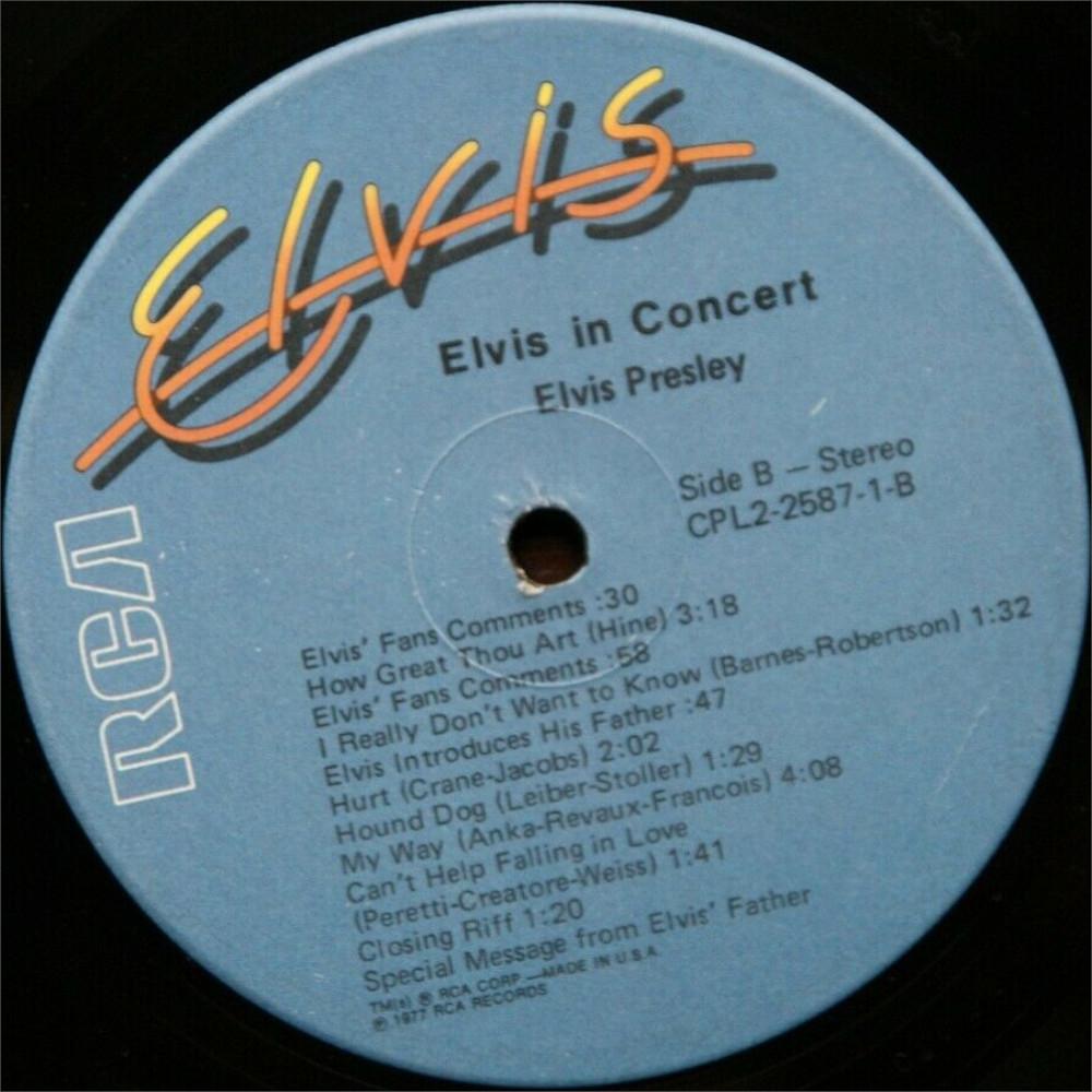 ELVIS IN CONCERT Cpl2-2587-825fykf6