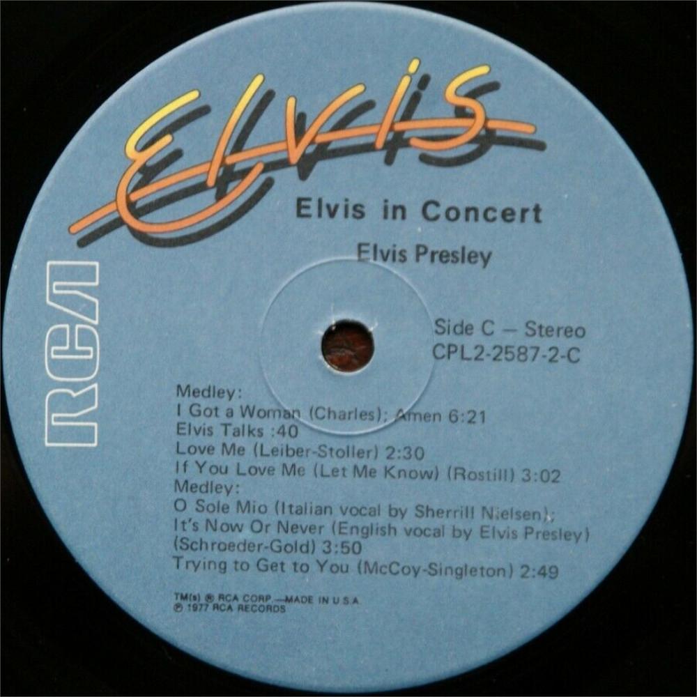 ELVIS IN CONCERT Cpl2-2587-826y2jwv