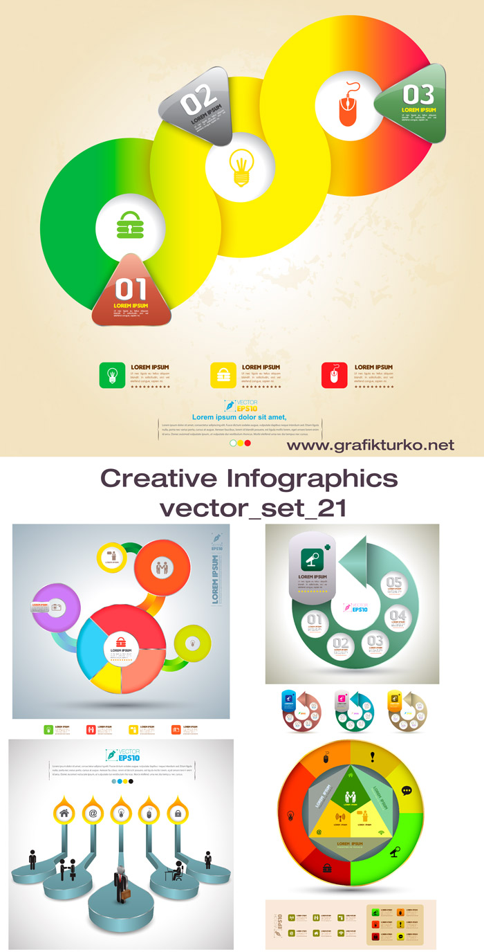 Creative Infographic Vector Set 21
