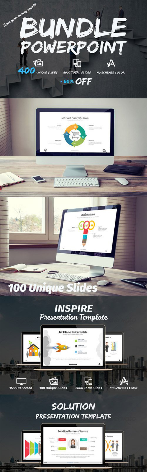 Creativemarket BUNDLE Powerpoint Template 323156
