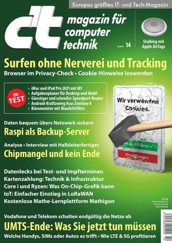 Cover: ct Magazin für Computertechnik No 14 vom 19  Juni 2021