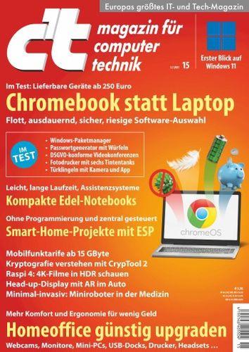 Cover: ct Magazin für Computertechnik No 15 vom 03  Juli 2021