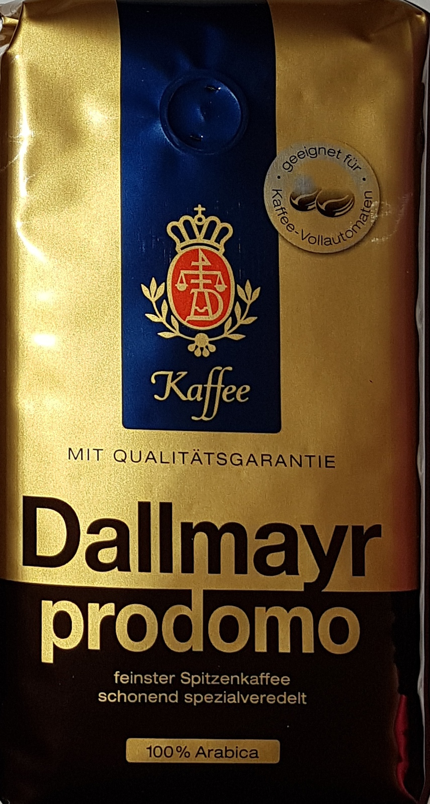 dallmayr prodomo kaffee 500g gemahlen bohnen filterkaffee kaffeemaschine automat ebay. Black Bedroom Furniture Sets. Home Design Ideas