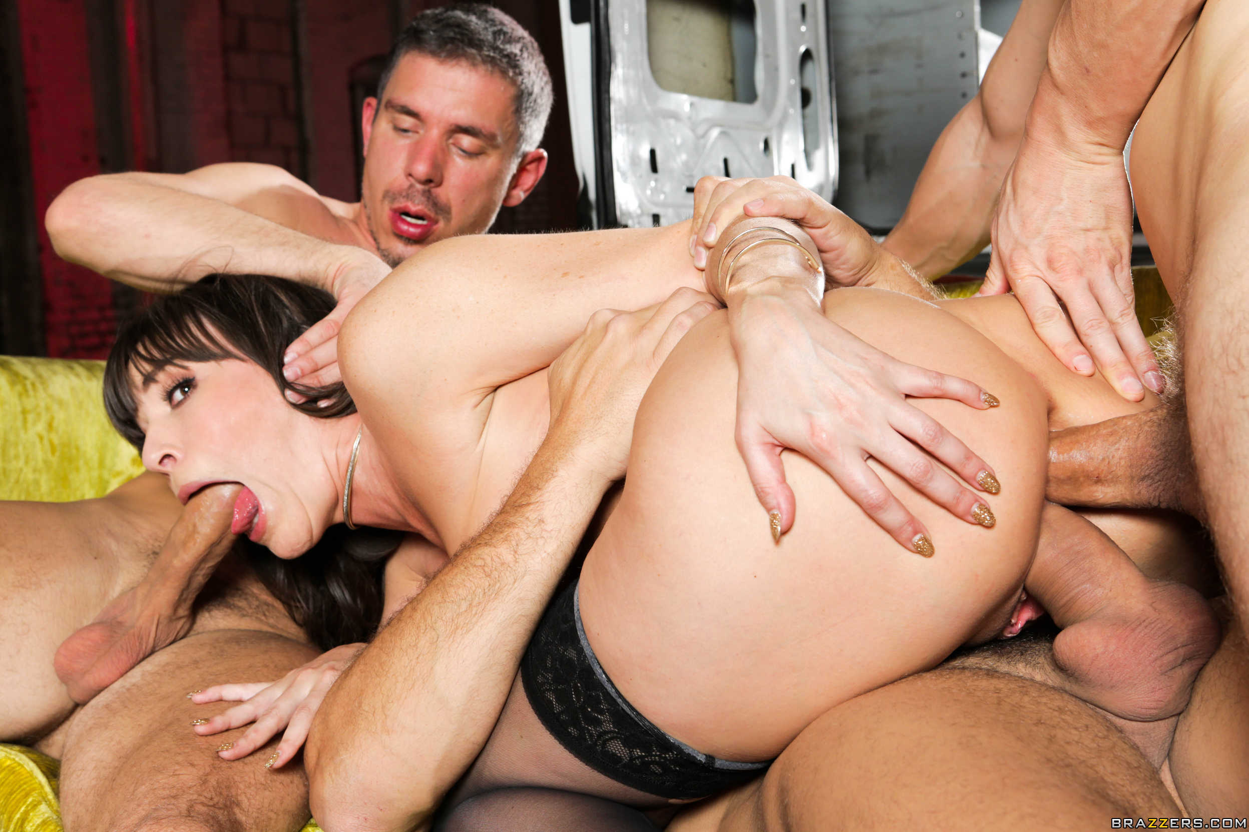 Blonde Double Anal Gangbang