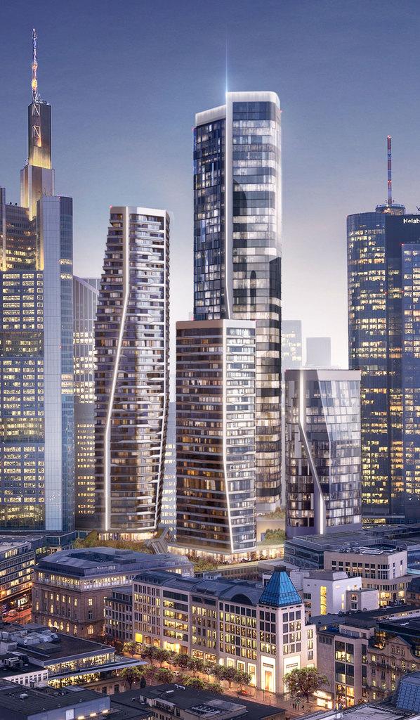 Neue Hochhäuser Frankfurt 2021