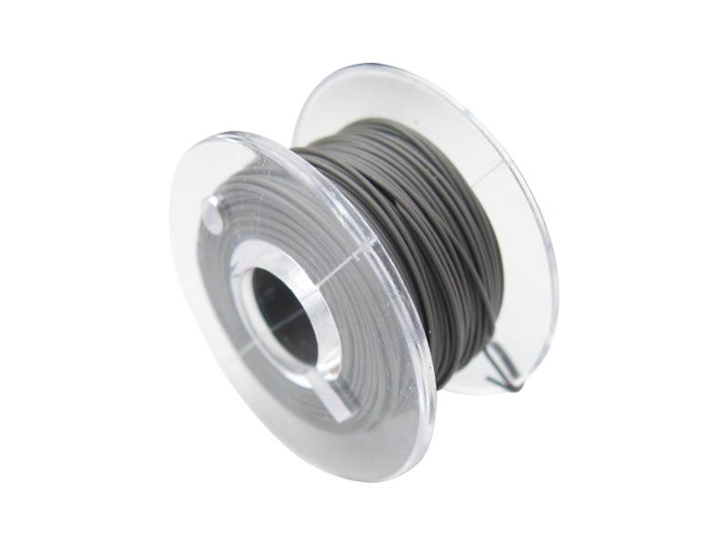 10 Meter Spule Mikrokabel Litze flexibel FEP 0,014mm² grau Ø 0,28mm