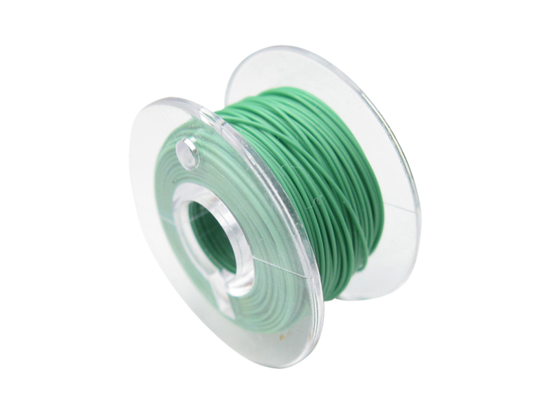 10 Meter Spule Mikrokabel Litze flexibel FEP 0,014mm² grün Ø 0,28mm