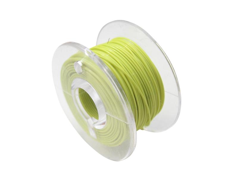 10 Meter Spule Mikrokabel Litze flexibel FEP 0,014mm² gelb Ø 0,28mm