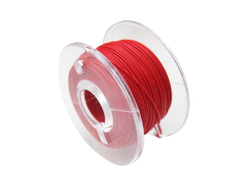 10 Meter Spule Mikrokabel Litze flexibel FEP 0,014mm² rot Ø 0,28mm