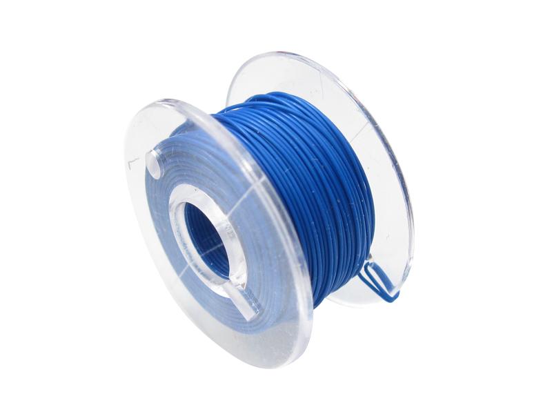 10 Meter Spule Mikrokabel Litze flexibel FEP 0,014mm² blau Ø 0,28mm