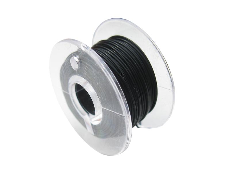 10 Meter Spule Mikrokabel Litze flexibel FEP 0,014mm² schwarz Ø 0,28mm