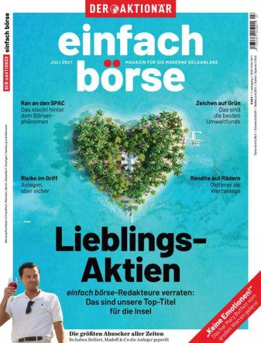 Cover: Der Aktionär einfach börse Magazine No 07 Juli 2021